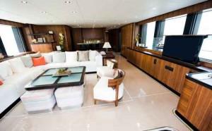 sea ray boat interior